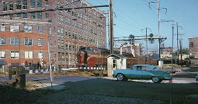 Crossing Gates - PRR The Broker West Side Ave. Jersey City Oct. 1961